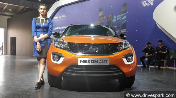 auto expo 2018 tata nexon amt revealed expected launch. Black Bedroom Furniture Sets. Home Design Ideas