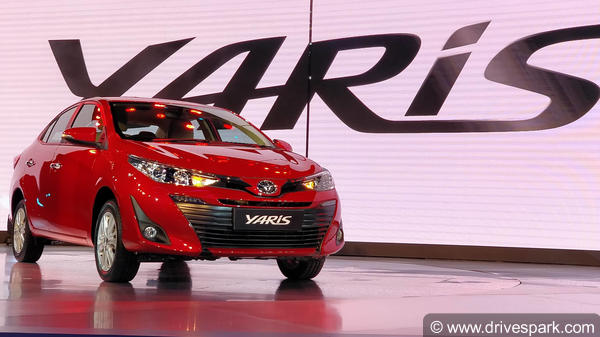 Toyota Yaris Unveiled In India