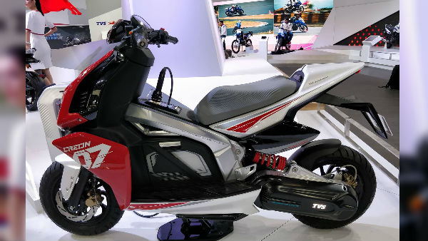 Auto Expo 2018: TVS Creon Electric Scooter Concept Unveiled — Launch Date, Specifications & Images