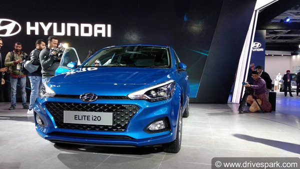 Auto Expo 2018 New Hyundai Elite I20 Launched At Rs 534 Lakh