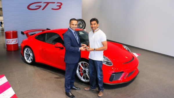 F1 Driver Narain Karthikeyan Buys Himself A Porsche 911 GT3; Opts For Clubsport & Sport Chrono Pack