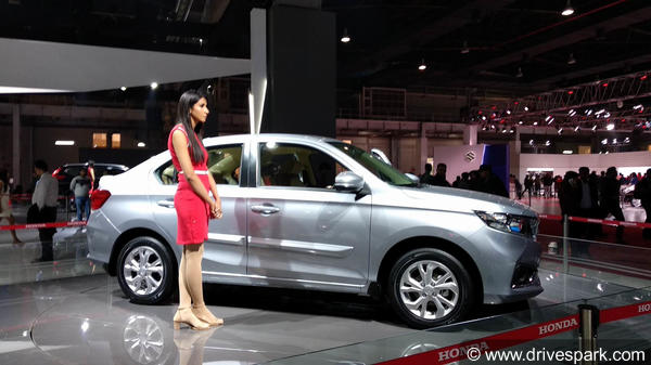 Auto Expo 2018: The New Honda Amaze Is Displayed For The Public