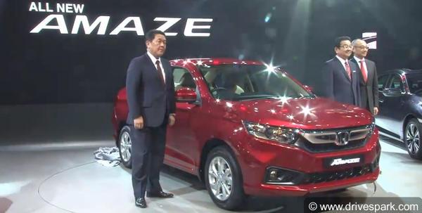 New Honda Amaze Facelift Revealed
