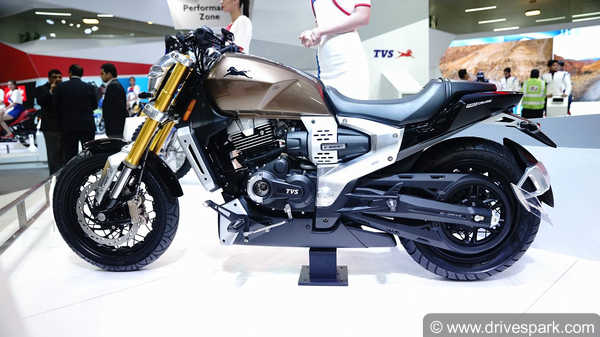 Tvs Bikes Scooters At Auto Expo 2018 Zeppelin Creon Apache Rtr