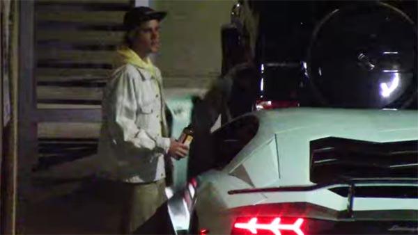 Justin Bieber Tries Hard To Turn His New Lamborghini U2014 Video Of Bieber  Driving The Aventador