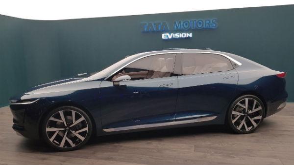 2018 Geneva Motor Show Tata E Vision Sedan Concept Unveiled