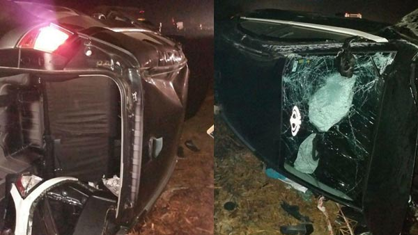 Tata Nexon Involved In An Accident; Driver Safe