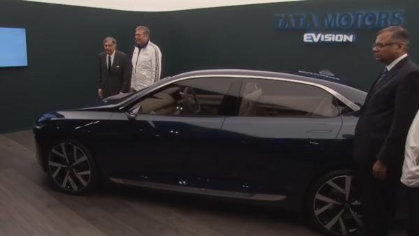Tata E-VISION electric sedan concept unveiled at Geneva