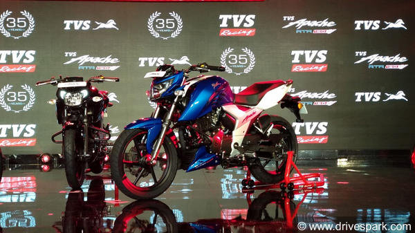 2018 TVS Apache RTR 160 4V Launched In India; Prices Start At Rs 81,490