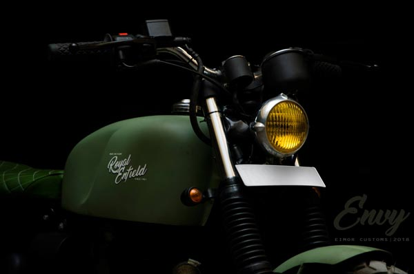 Eimor Customs Envy — A Royal Enfield Bullet Classic 350 Modified Into A Scrambler