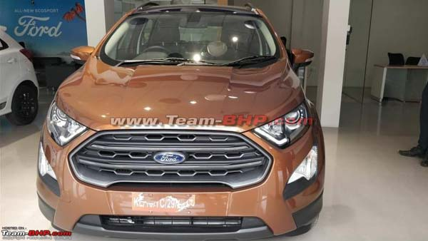 Ford Ecosport New Variant Spied ; To Get A Sunroof""