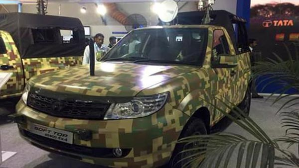 Tata Safari Storme For The Indian Army With Techno Camo And 4x4