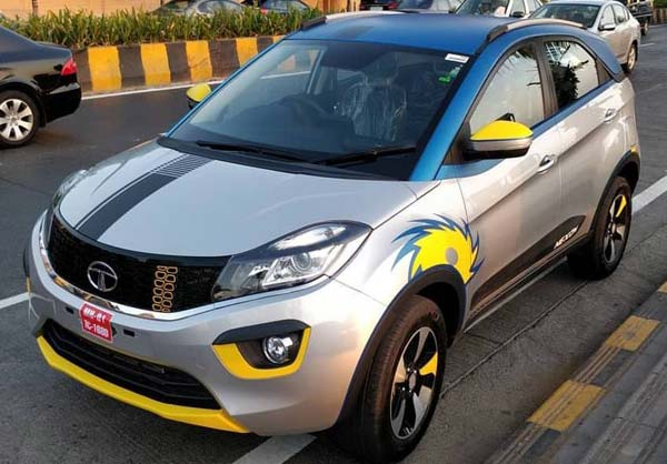 Tata Nexon IPL Edition Spotted At Dealerships; Sports the Mumbai Indians Logo