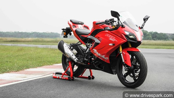 TVS Apache RR310 Prices Hiked; Now Priced At Rs 2.23 Lakh