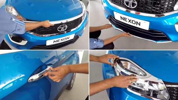 Tata Nexon Accessories List: Sunroof, Chrome, Leather Seats, Car Covers, Mood Lighting & More