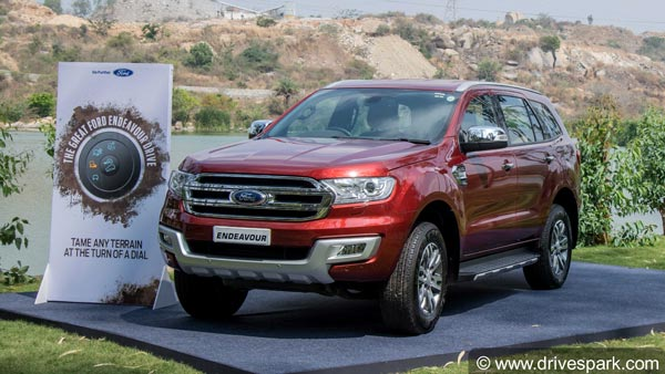 Ford Endeavour Facelift To Launch In India By Early 2019