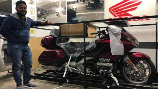 India's First 2018 Honda Goldwing Arrives In Bangalore Dealership