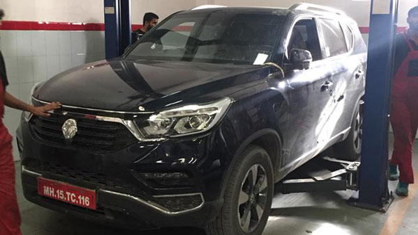 Mahindra XUV700 Spied Testing In Desert Heat — Will Rival The Toyota Fortuner