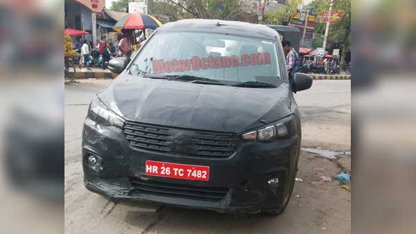 New Maruti Ertiga Spied With 6-Speed Manual Gearbox