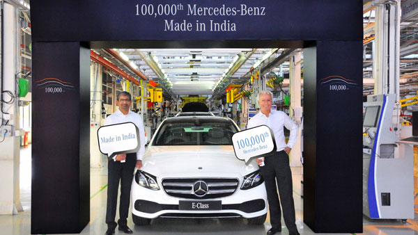 Mercedes-Benz India Reaches 1 Lakh Manufacturing Milestone; Rolls Out The E-Class Sedan