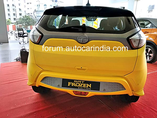 Tata Nexon SRT Frozen Edition Spotted At Dealership