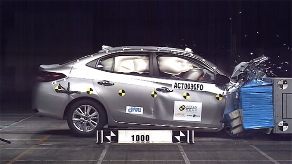 Toyota Yaris Crash Test: ASEAN NCAP Ratings And Video Results