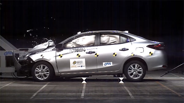 Toyota Yaris Crash Test: Scores 5-Star ASEAN NCAP Safety Rating