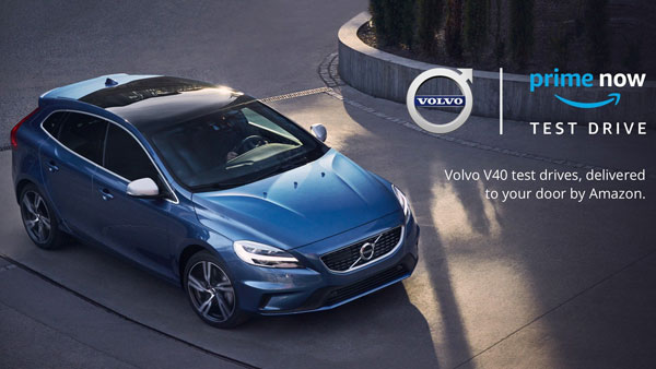 Volvo Offers Test Drive Service Of V40 Through Amazon Prime UK; 45 Minute Drive With Volvo Specialist