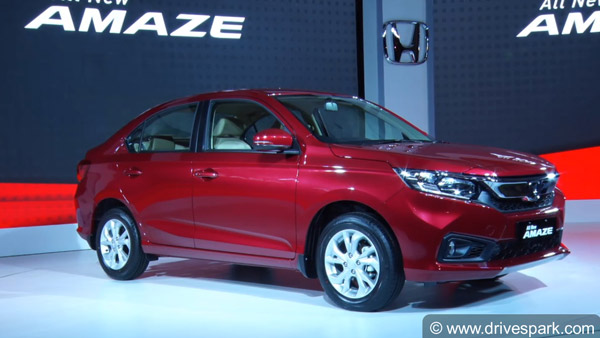 Honda Amaze 2018 Launched In India; Prices Start At Rs 5.59 Lakh