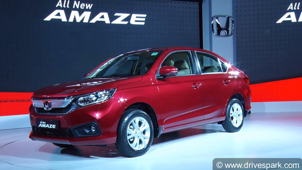 Honda Amaze 2018 Launched In India At Rs 5.59 Lakh: Specifications, Features, Images And Details
