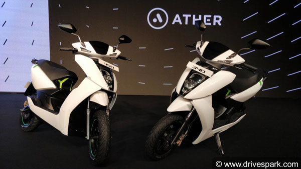 Ather Energy 340 & 450 Electric Scooters launched In India; Prices Start At Rs 1.09 Lakh