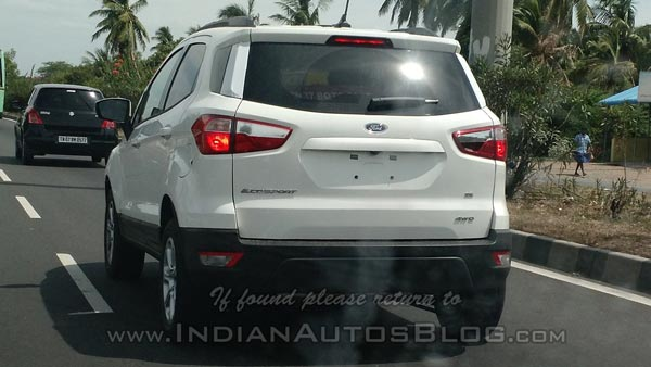 Ford Ecosport Four Wheel Drive Variant Spotted Testing In India