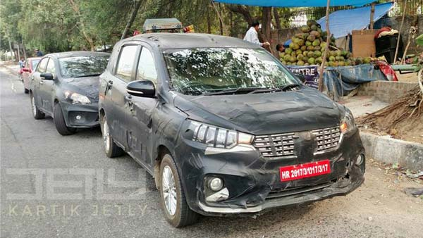 2018 Maruti Suzuki Ertiga Facelift Spotted Testing In India; Launch Expected Soon