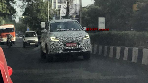 MG RX5 SUV Spotted Testing In India