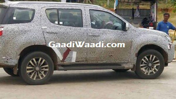 Isuzu MU-X Facelift Spotted Testing In India