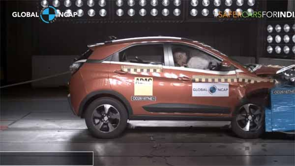 Tata Nexon Global NCAP Crash Test Results Revealed — Gets Four-Star Safety Rating