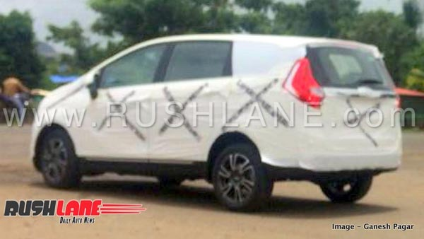 Mahindra Marazzo Spotted Testing Again - Reveals Shark LED Tail Lights And Alloy Wheels
