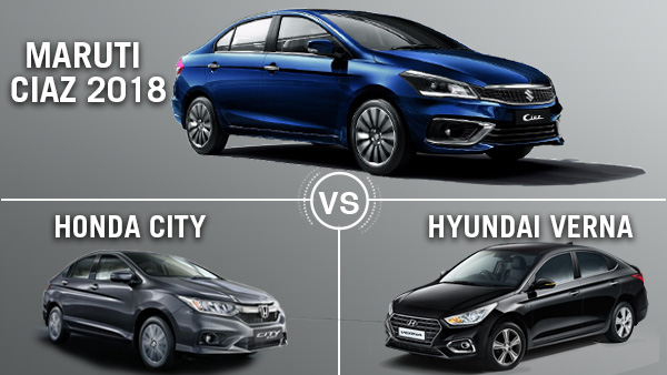 Maruti Ciaz 2018 Vs Honda City Vs Hyundai Verna Comparison: Which Is The Best Premium Sedan?