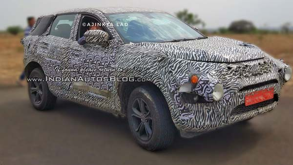 Tata Harrier SUV Spotted Again - Gets New Alloy Wheels And Bridgestone Tyres