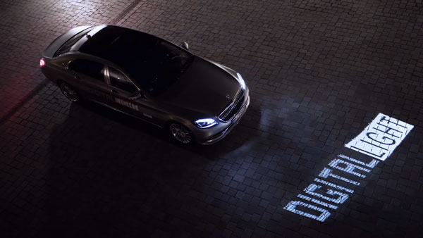 Mercedes-Benz Digital Light Technology: Car Communicates With You Through Words