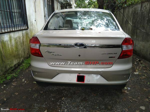 New Ford Aspire Facelift Spotted Undisguised Ahead Of Launch; To Rival The Honda Amaze & Maruti Dzire