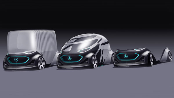 Mercedes Vision Urbanetic Autonomous Electric Van Concept — Shape-Shifting Monster, Literally