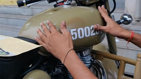 Royal Enfield Desert Storm-Pegasus Conversion Using Stickers Under Rs 1000