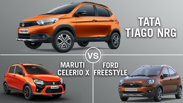 Tata Tiago NRG Vs Maruti Celerio X Vs Ford Freestyle: Which Is The Best Cross Hatchback?