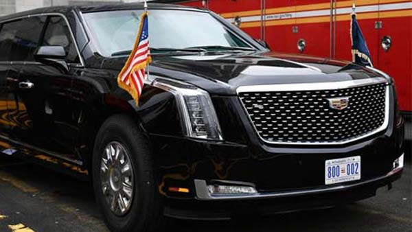 Donald Trump's Cadillac Beast Makes Its First Public Appearance — Massive And Quite Literally A Beast!
