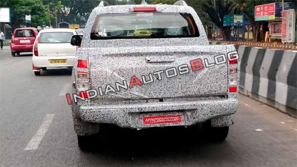 Isuzu D-Max Facelift Spotted Testing In India; Launch Expected In First-Half Of 2019