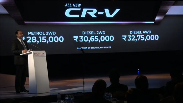 And The All-New Honda CR-V Has Been Launched In India At Rs 28.15 Lakh