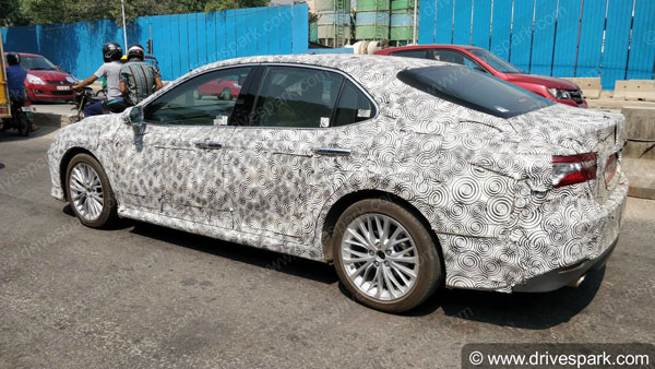 EXCLUSIVE: New Toyota Camry Spotted Testing In Bangalore — Launch In 2019