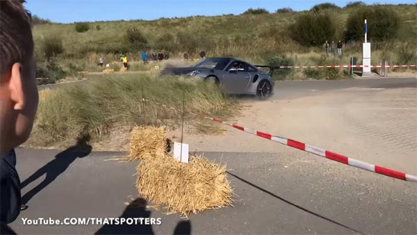 Porsche 911 GT3 RS (991) Ends Up In Some Nice Belgian Grass After Driver Misjudged A Corner