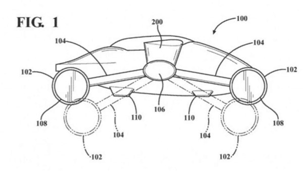 "Toyota Files Patent For A ""Dual-Mode Vehicle With Wheel Rotors"" Or A Flying Car, In Simple Terms"